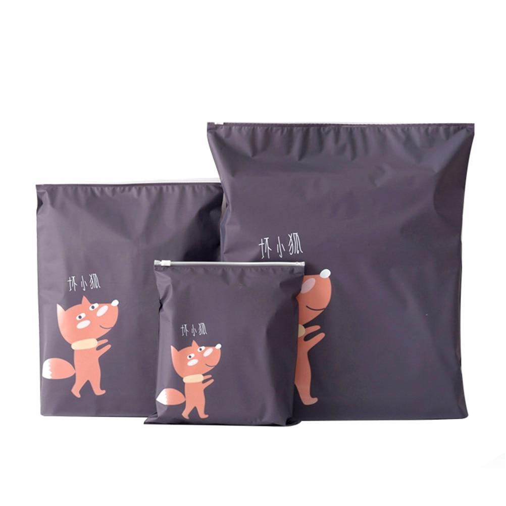 3PCS/set Travel Waterproof Bag Convenient Clothes Storage Case Shoe Laundry Makeup Luggage Organizer Pouch convenient storage organizer carrier nylon bag for 18650 26650 battery black