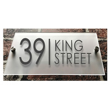 Customized Modern Clear Acrylic House Sign Plaques Door Plates with Frosted Film House Number/Street Name Sign custom house number acrylic house sign with house number