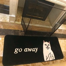Newest Design Fashion cute cat  High Quality  Pad Room living room  Floor Mats Water Absorption Mat Decorative mat 65X185cm