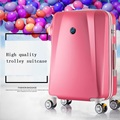 20 inch 24inch abs plastic rose gold red pink purple black champagne trolley spinner travel luggage or suitcase for unisex