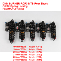 Excelli DNM 190/240MM Downhill Mountain Bike Oil Rear Air Shock Absorbers Bicicleta Rear Suspension Fully Adjustable Damping