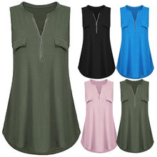 Sleeveless Summer Blouse Women Back Cross Bandage Chiffon Vest Plus Size Tank Top Oversized Loose Boho Beach Female Blusa Tops(China)