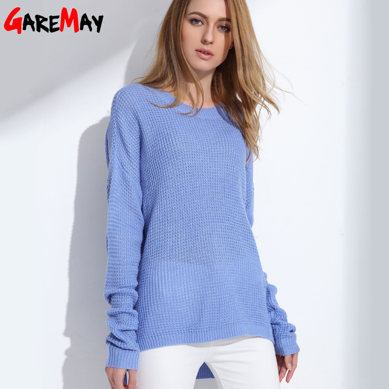 Sweater Shirt Women Jumper Spring Oversized Sweater Long ...