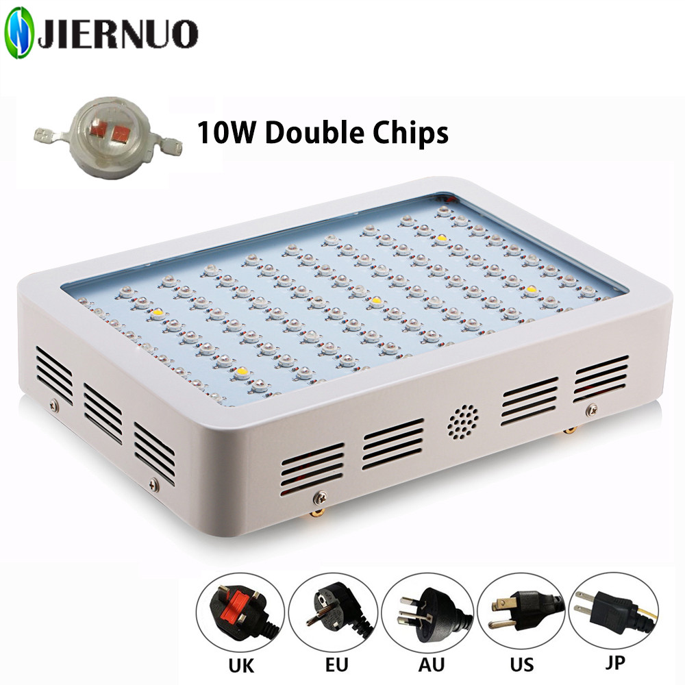 600W 1000W LED Grow Light Full Spectrum Double Chip LED Grow Lamp Red/Blue/IR/UV for indoor Flowering Hydroponic LED plant light 3pcs lot double chip qkwin 600w led grow light 60x10w double chip full spectrum for hydroponic planting shipping