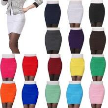 Новая женская Мини плиссированная эластичная короткая юбка облегающая юбка-карандаш тонкая юбка бесшовная облегающая юбка