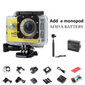 SJ 1080P HD Mini Sport Action Camera Waterproof Cam Sport DV Mini Camcorder Gopro style Helmet Cam +MONOPOD+Extra a battery