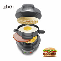 LSTACHi Mini Sandwich Toaster Breakfast Baking Machine Automatic Hamburger Maker Bacon Egg Frying Pan 220V Kitchen Appliances