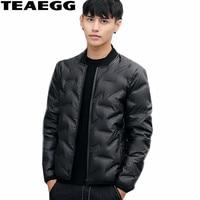 TEAEGG White Duck Down Feather Jacket Men Clothing Chaqueta Plumas Hombre High Quality Short Down Jacket For Man Parkas AL365