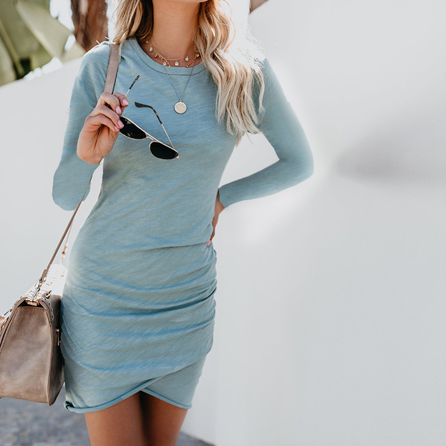T Shirt Dress Women Autumn Sexy Kim Kardashian Ukraine Kyliejenner Dress Female Linen Boho Bodycon Sukienka Vestido Plus Size 4