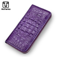 McParko Luxury Brand Ladies Wallet Women Clutch Wallet Genuine Leather Crocodile Long Wallet For Female Fashion New Zipper Purse