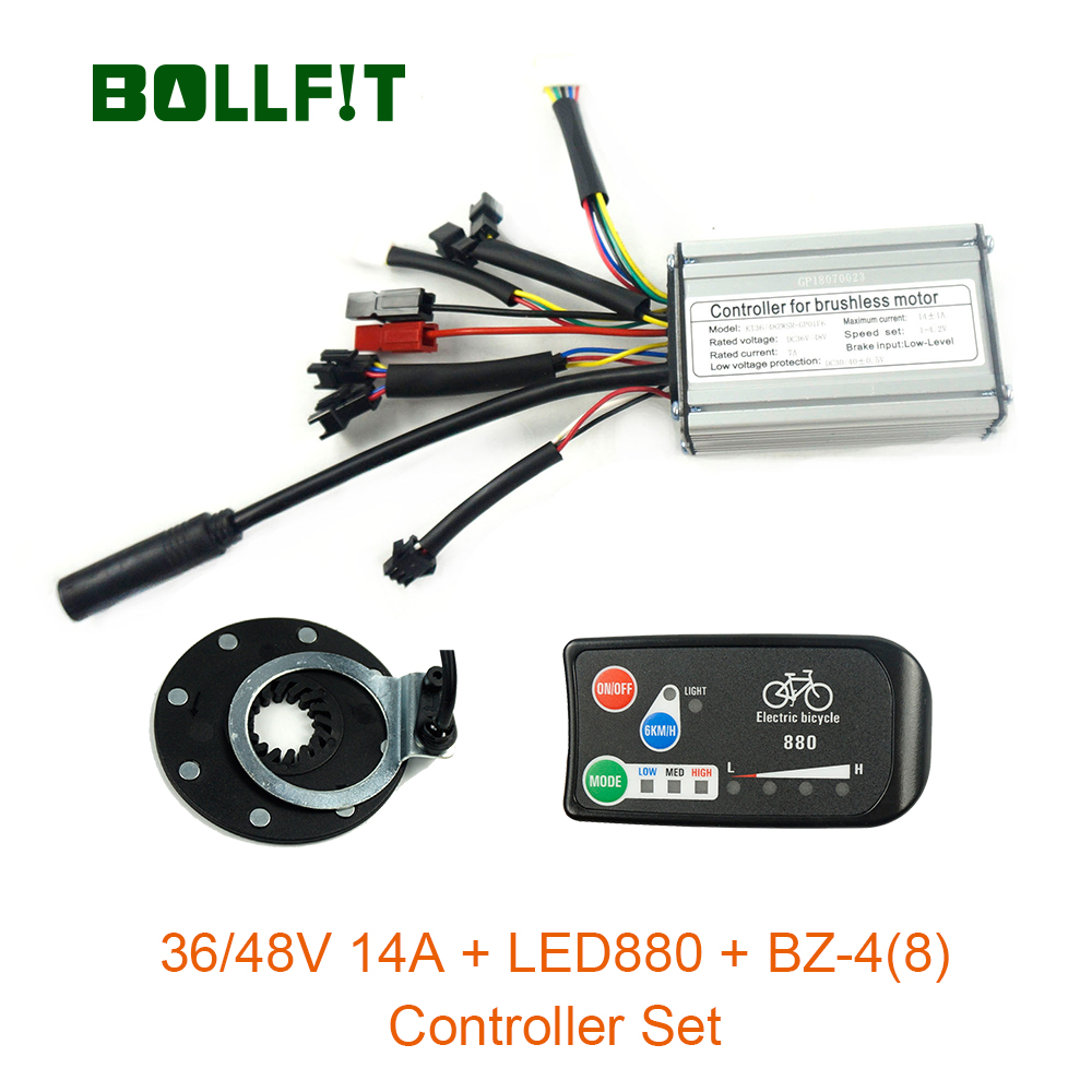 36V48V 250W waterproof KT Controller 14A LED880 display PAS Set E bike Conversion kit Hall Sensor
