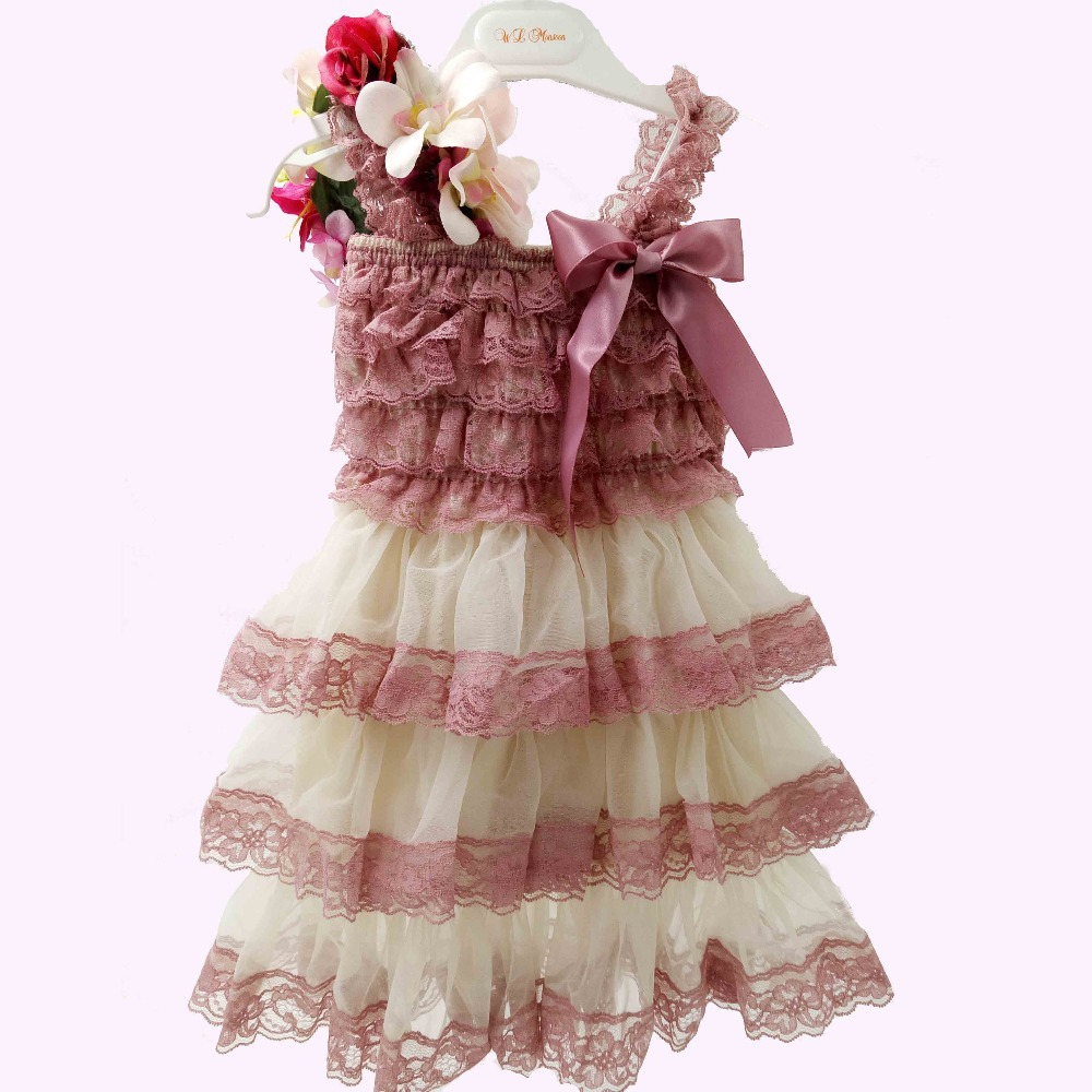 Retail cream Ruffle Lace Flower Girl DRESS Toddler girl