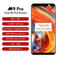 LEAGOO M9 Pro Face Unlocked Smartphone 5 72 18 9 Full Screen 2GB 16GB Android 8