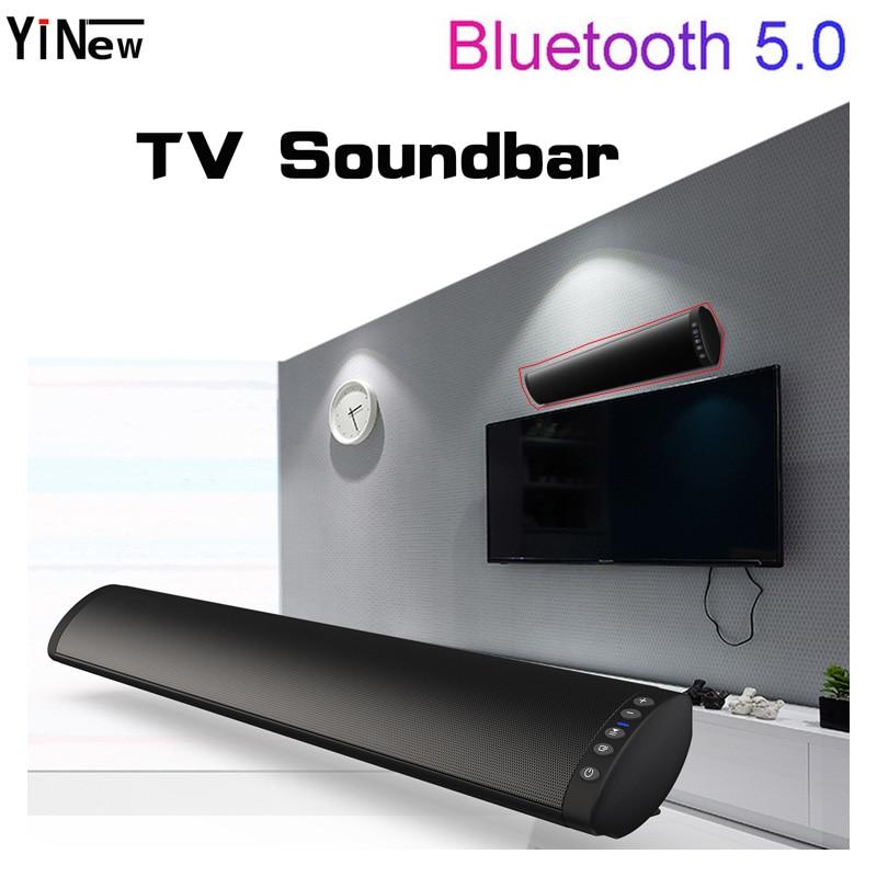 20W TV barre de son Bluetooth 5.0 haut-parleur sans fil FM Radio montage mural système Home cinéma Surround boîte de son stéréo basse Subwoofer