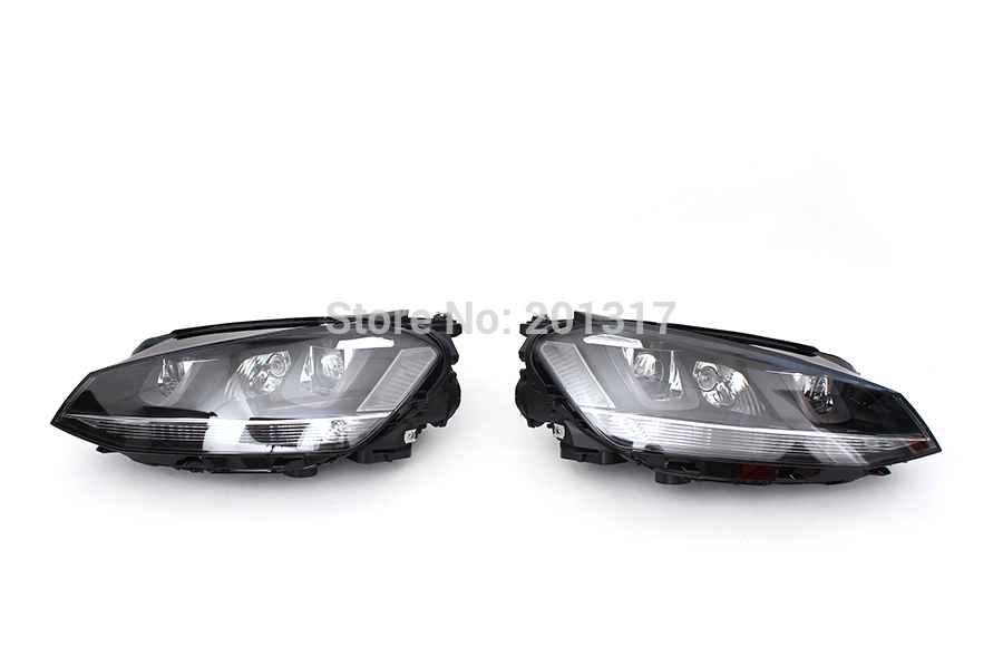 ABS Style Front  bumper head lamp light ,Auto car headlamp For VW Golf 7 MK7 Standard Bumper LHD moxie dolls