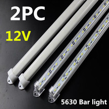 Rigid Strip 5630 LED Bar Light Blue Green,Red Waterproof U Groove 50cm/36leds LEDDC 12V 5630 LED Tube Hard LED Strip 2pcs* 50CM