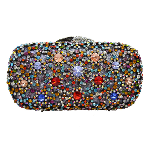 150e308f9b US $59.95 45% OFF Multicolor Rhinestones Luxury Crystal Evening Clutch Bag  Gold soiree pochette Purse for Party Wedding Bridal Prom Bag 88281-in ...