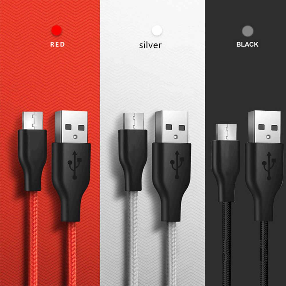 المصغّر usb كابل ل Xiaomi Redmi ملاحظة 5 4 سريع شحن سلك Microusb كابل الشاحن لسامسونج ملاحظة 5 J5 J6 J7 الروبوت كابلات الهاتف
