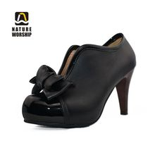 Spring/Autumn Pumps Plus Size Shoes Butterfly-knot High Thin