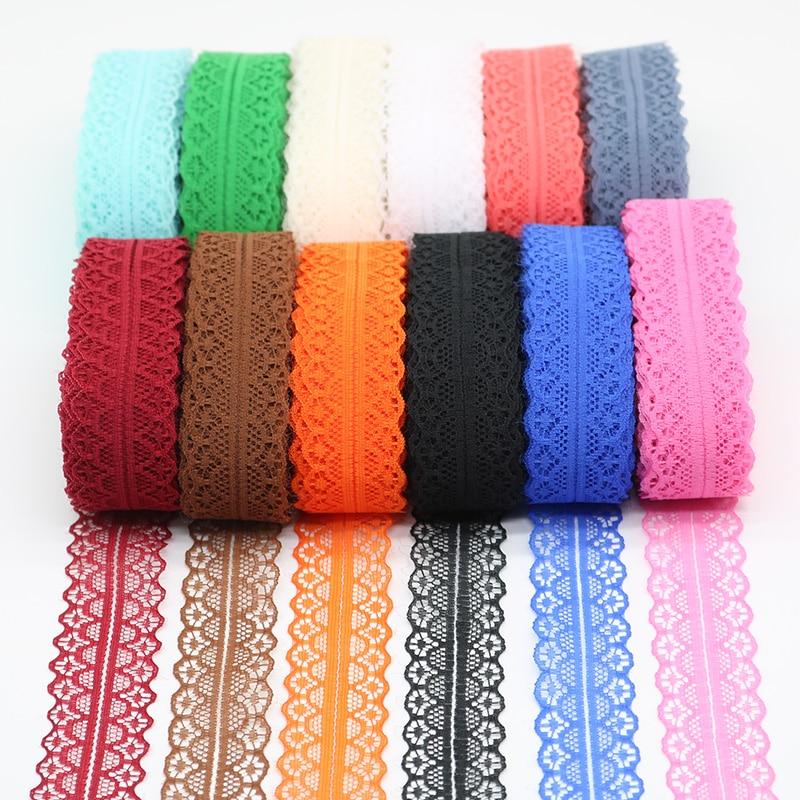 10 ярдов Красивая кружевная тесьма 28 мм широкий африканский кружево ткань отделкой DIY белый вышивка кружевная бейка Вышивание интимные аксессуары