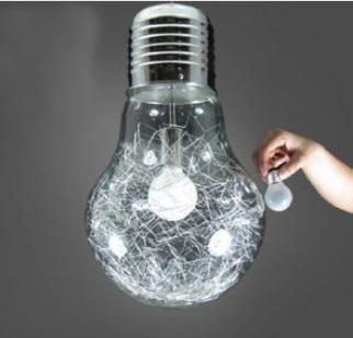 grotebollampgrotebolhanglampverlichtingbaraluminiumdraadglasslaapkamerverlichtingmetefitting, Meubels Ideeën