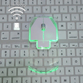 2.4GHz Wireless Optical Mouse Unique Ultra Thin Transparent Style Wireless Mouse Fashion Colorful Luminous Mouse