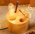 Vintage lâmpada De madeira moderna Mesa De madeira / Mesa lâmpadas De edison, Luminaria De Mesa para quarto sala De estudo