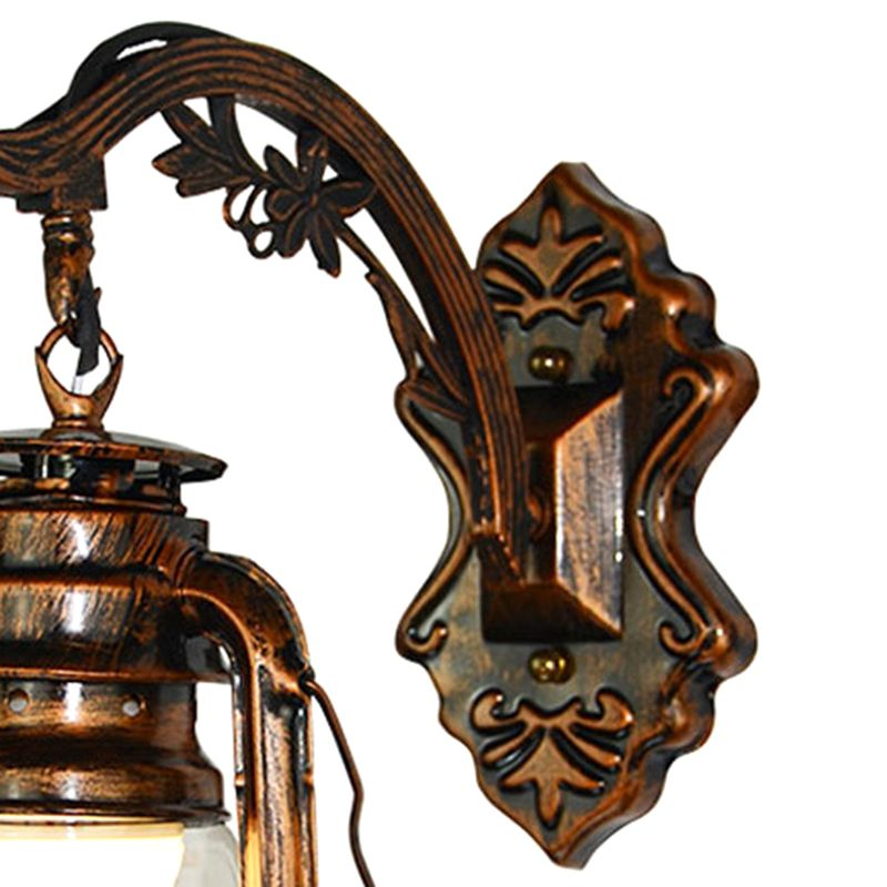 Vintage lâmpada de parede led retro querosene