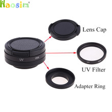 3 In1 37mm/40.5mm/52mm/58mm UV filtre lens koruyucu + adaptör halkası + lens kapağı git Pro HD Hero 4/3 plus/3/3 +(China)