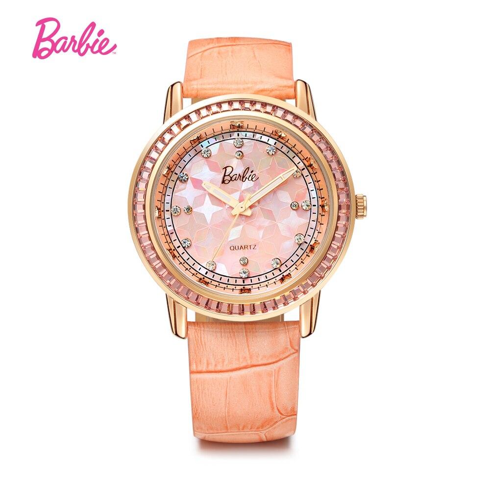 Barbie Women Quartz Watches Women analog chronograph Clock Women True Leather Strap Fashion Wrist Watch for gift fashion split leather band quartz analog bracelet wrist watch for women black 1 x 377