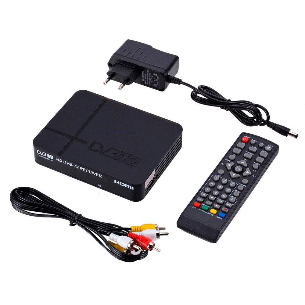 Receptor de sinal de TV Totalmente para DVB-T DVB Digital Terrestre H.264 DVB T2 T2 Temporizador não Suporta para Dolby AC3 PVR transporte da gota
