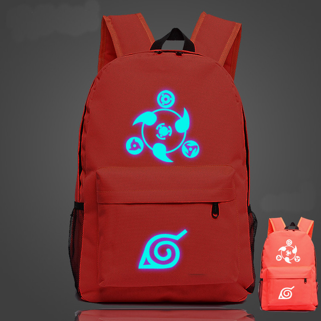 Naruto Konoha Leaf Logo Sharingan Luminous Backpacks