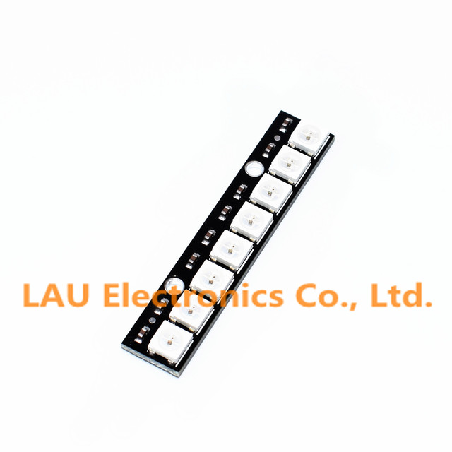 Free Shipping 10pcs Stick 8 channel WS2812 5050 RGB LED lights built-in full color-driven development board