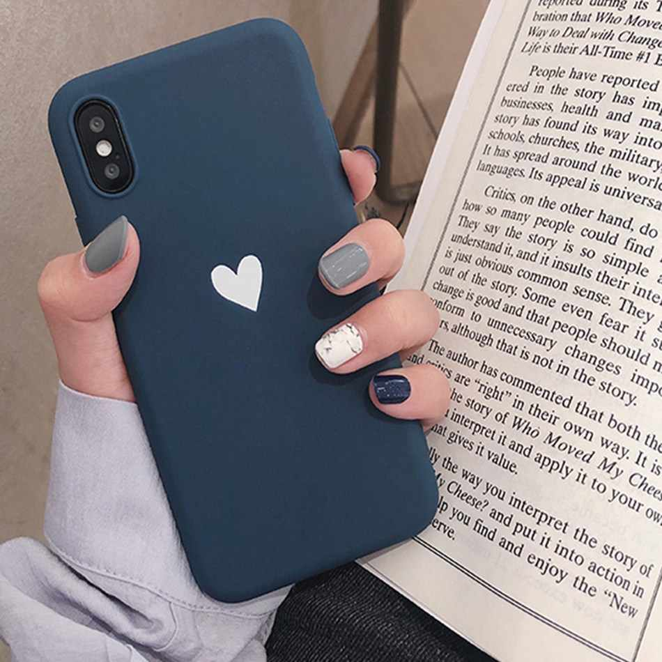new style 25121 1caf1 For Xiaomi Redmi 7 Note 7 6 Pro 5 Redmi 4A 4X 5 Plus 6a S2 a2 lite Case  Love Heart Print Back Cover Retro Lovely Matte Soft Case