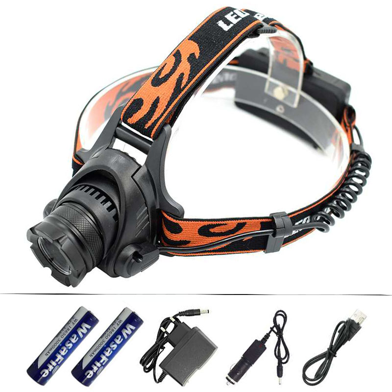 XM-L2 U2 LED Headlamp Zoom 3 Modes Headlight Rechargeable Waterproof Head Torch Light Lamp + 18650 Battery + AC Car USB Charger 10pcs 2g 70mm pesca artificial soft lure japan silicone soft baits shad worm swimbaits jig head fly fishing rubber carp fishing