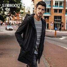 SIMWOOD 2020, Chaqueta larga de primavera para hombres, prendas de vestir de abrigo ajustadas a la moda, abrigos casuales de talla grande de alta calidad, ropa de marca JK017012