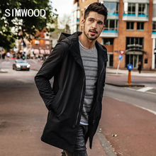 SIMWOOD 2020 spring  Long Jacket Men Slim Fit Fashion  Outerwear Casual High Quality Plus Size Coats  Brand Clothing JK017012