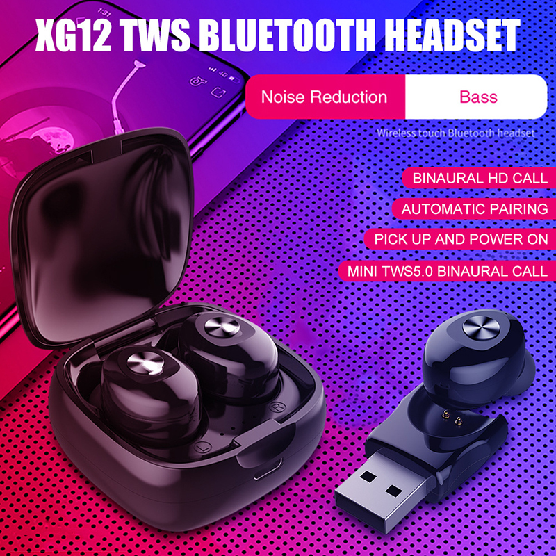 Truly TWS Wireless Bluetooth 5.0 Headphones HiFi Stereo Noise Reduction Earphones With Mic HD Handsfree Call Bass Music Earbuds