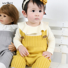 Kacakid Spring new baby boy girls Bodysuits kids wool knit sleeveless bodysuit infant clothes