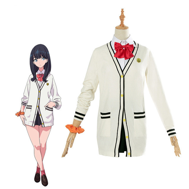 Anime SSSS.GRIDMAN Cosplay Costume Takarada Rikka Cosplay School Uniform Costume Girl Women Outfit Halloween Party Costume SSSS