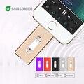 Для iPhone6 Plus 6 5S USB Flash Drive iOS Android мобильного MicroUSB OTG Pendrive HD memoria придерживаться Двойного назначения 32 ГБ 64 ГБ