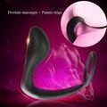 De silicona Anillo Para el Pene Masculino Massager de La Próstata Juguetes Sexuales Butt Plug Hombres Tiempo de Retardo Del Pene Anillo cockings Erotic Sex productos