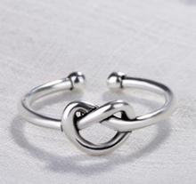 New heart-shaped staggered rings for women openable adjustable ring Simple fashion womens jewelry