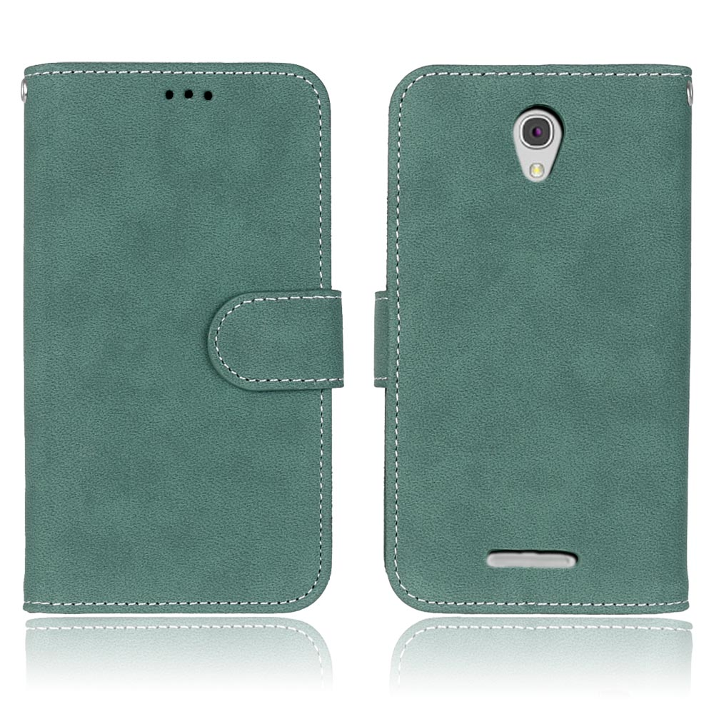 Retro Case for Lenovo A5000 Leather Wallet Case Cover for Lenovo A5000 A 5000 Flip Cover Mobile Phone Bag Cases with Card Holder