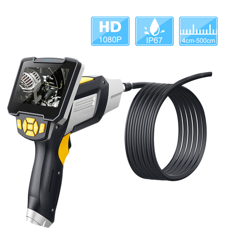 Portable Handheld Endoscope Borescope 4.3inch LCD Screen Inspection Camera With 6 LED 8mmWaterproof Industrial Digital Endoscopy