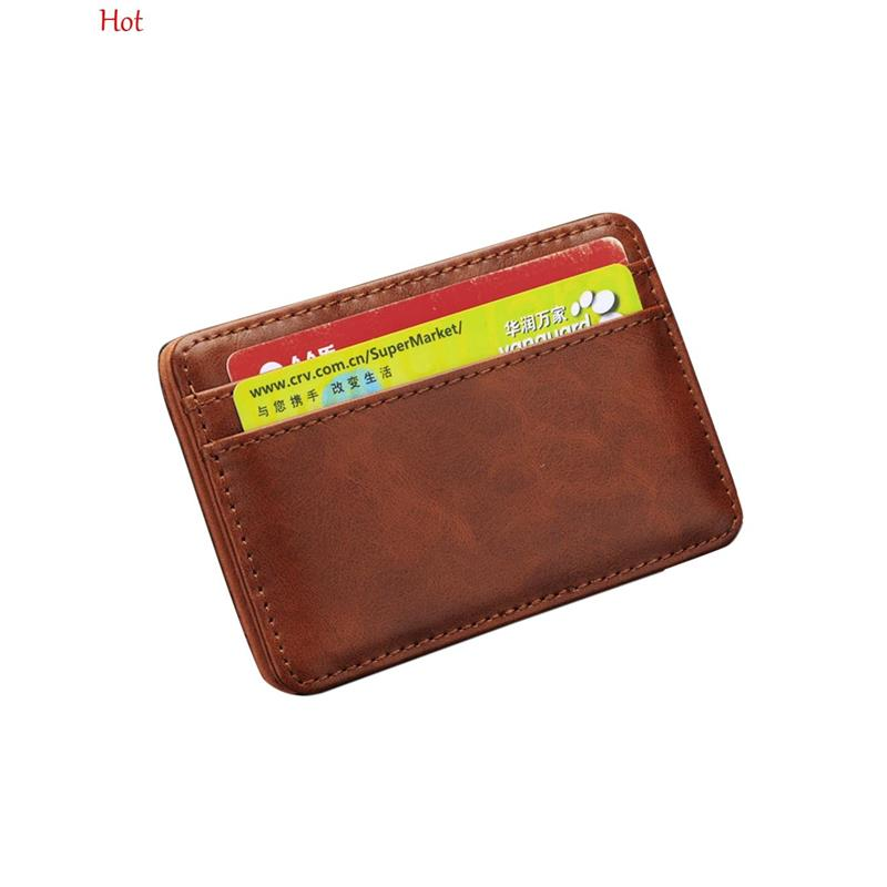 quality men money clip leather billfold clamp wallets magic wallet card holder money card hold luxury men wallets brown sv020153 in money clips from luggage - Mens Money Clip Credit Card Holder