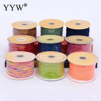 1mm Satijn Nylon Koord Knopen koord Sieraden supplies Voor Ketting Sieraden Ambachten 100 Yards DIY Polyamide Cord