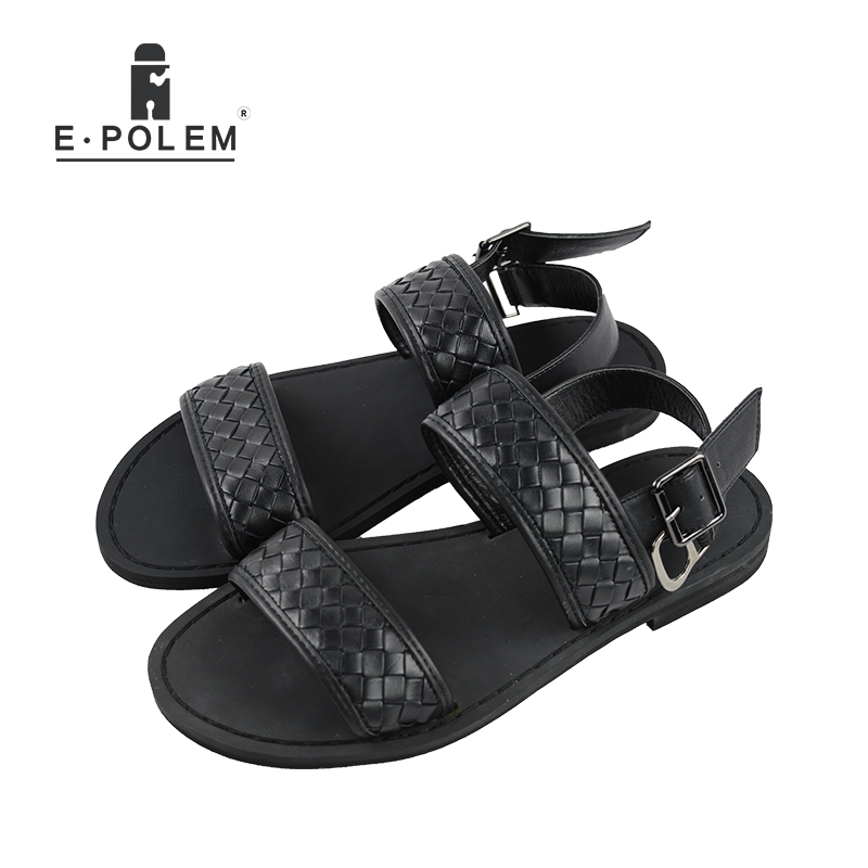 Fashion font b Sandals b font Men 2017 Vintage Rome Style Summer Beach Breathable Casual Solid