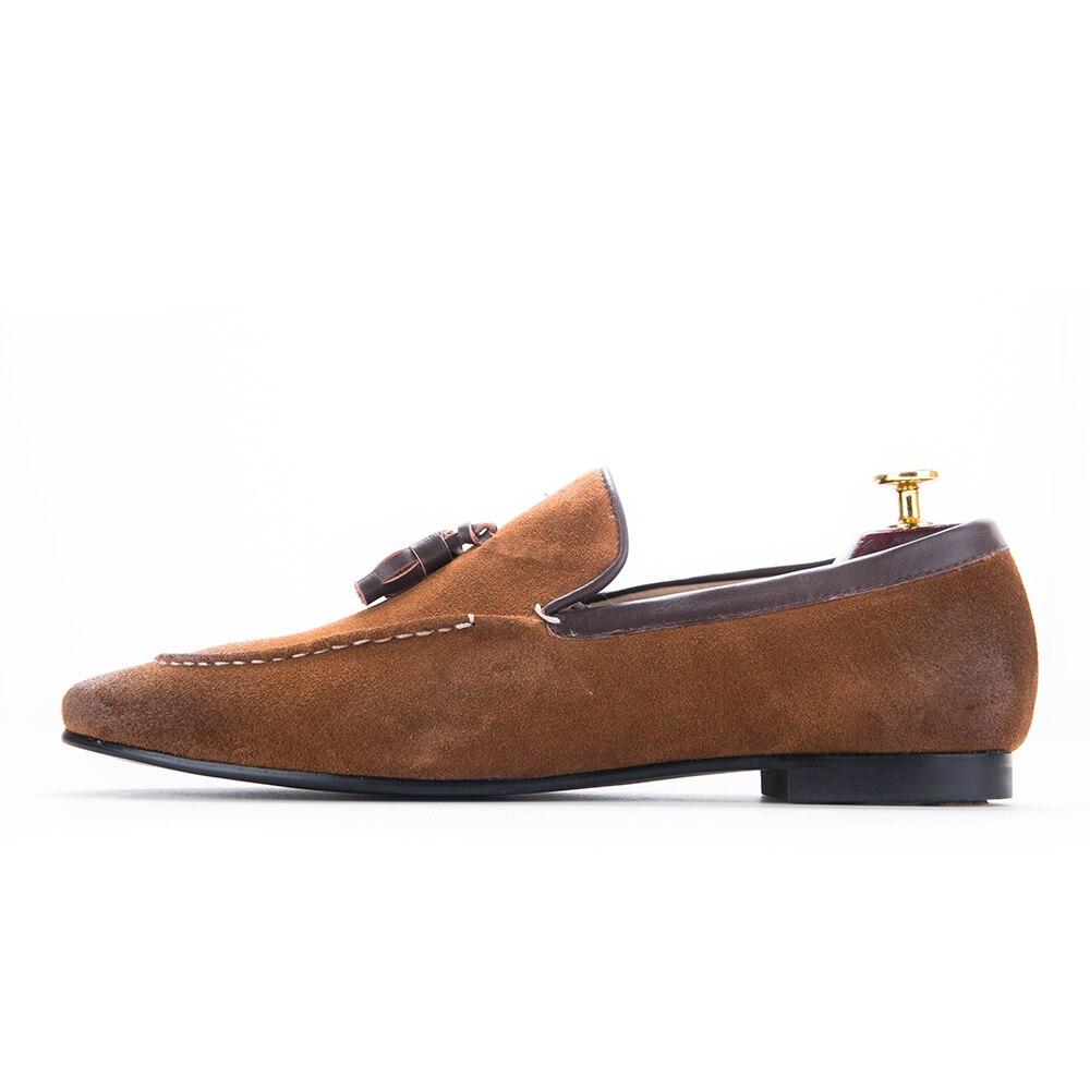 Mariage Main brow Black Plus Pantoufle Fumer Us6 Hommes Shoes Shoes Mocassins Chaussures Chaussures Banquet Taille 14 Glands Et De Robe 5x0axqUw