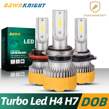 2PCS H4 Led Bulb Turbo Mini Size H7 H1 H3 H8 H9 H11 9005HB3 9006HB4 Car Headlight 8000LM 60W Lamp Fog Light